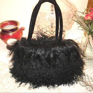 Mongolian Lamb Fur Evening Bag